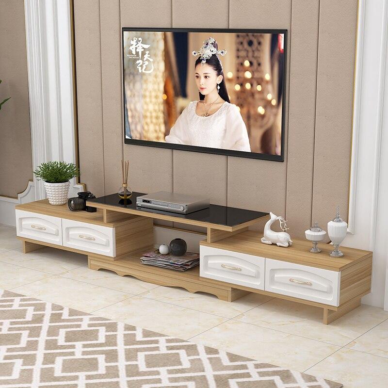 US $83.6 12% di SCONTO|DSG188 Moderna Ecologico Mobile TV In Legno Massello  Soggiorno Scalabile PORTA TV Camera Da Letto In Vetro Temperato mobile ...
