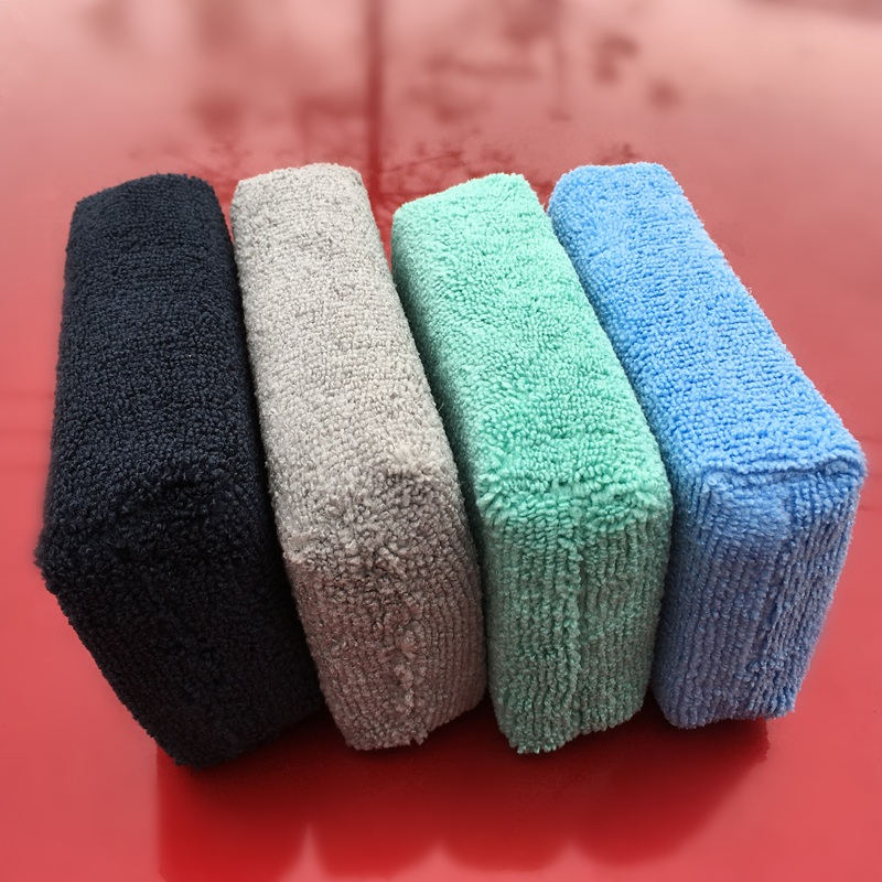 5x Car Microfiber Applicators Sponges Cloths Microfibre Hand Wax Polishing Pad*T