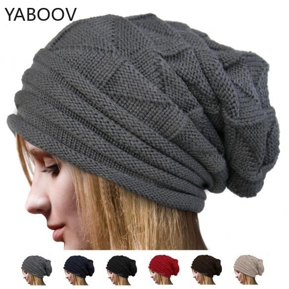 Winter   Beanie   Hats Ribbed Knitted Slouchy Snow Skullcap Baggy Retro Ski Fisherman Docker   Beanies   Hat for Women
