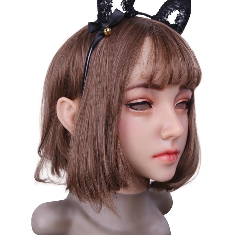 Disfigurement Repair Disguise Self Artificial Human Skin Face Realistic Crossdresser Transgender Cosplay Silicone breast forms