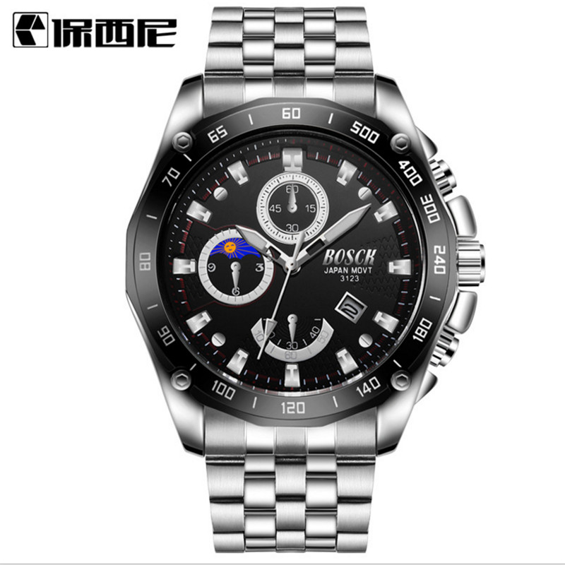 Europe and the United States watches men's watch with calendar calendar business quartz watch free shipping europe and the united states set foot business mens casual shoes