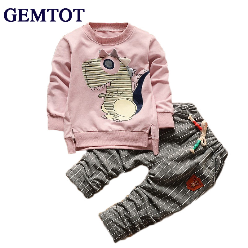 GEMTOT 2017 Boy Clothes Fashion Baby Boy Clothing Sets Kid Full Clothes + Trousers Suit for Children Boys Kid Baby Clothing Set