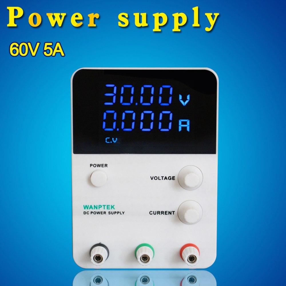 4 Digits laboratory power supply adjustable Voltage Regulator Switching LED voltage stabilizer 0 60V 0 5A AC 115V/230V 50/60Hz