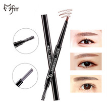 FM 4 Color Automatic Eyebrow Pencil Makeup Paint For Eyebrows Waterproof Permanent Eye Brow With Brush Dark Brown