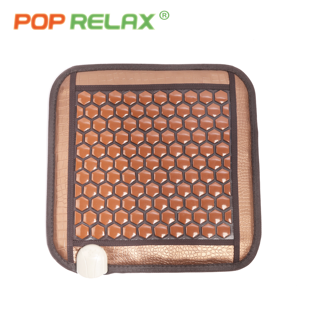 POP RELAX Korea health seat mattress tourmaline germanium heating pad mat far infrared physiotherapy ion stone thermal mattress in Massage Relaxation from Beauty Health