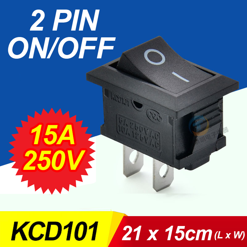 10 pcs G130 21*15mm SPST 2PIN SUR/OFF Bateau Rocker Switch 15A/250 V De Voiture Dash Dashboard Camion RV ATV Maison Vendre À Perte USA bélarus