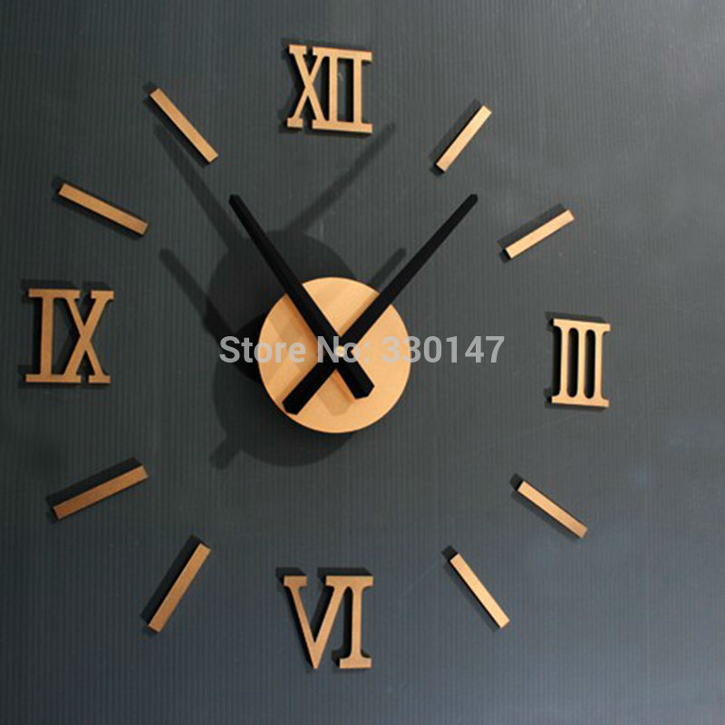 Rome Digital Number wandklok diy 3d spiegel Silent Clock Acryl Brief Quieten DIY wandklok modern design Groothandel