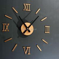 Rome Digital Number wall clock diy 3d mirror Silent Clock Acrylic Brief Quieten DIY wall clock modern design Wholesale