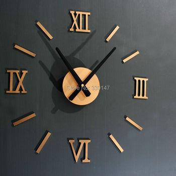 Rzym z cyframi analogowymi zegar ścienny diy 3d lustro cichy zegar akrylowy krótki cichy zegar ścienny DIY nowoczesny design hurtowy tanie i dobre opinie Silver Black Gold Antique style Salon Pojedyncze twarzy Other Cyfrowy Krótkie circular Zegary ścienne 450mm 100g CN (pochodzenie)