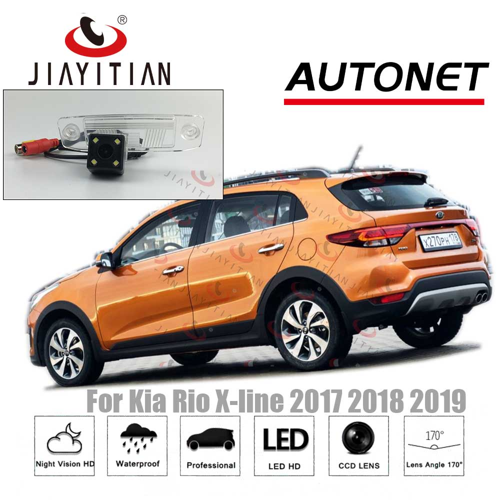 JiaYiTian Rear View Camera For Kia Rio X Line X-line 2017 2018 2019 CCD/Night Vision Backup Camera Reverse License Plate Camera