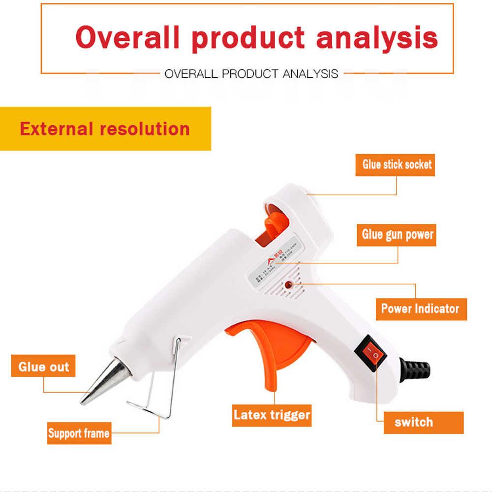 Hot Melt Lijmpistool 20W 7MM EU Plug Elektrische Warmte Temperatuur Tool met switch indicator Industriële Mini Guns thermo