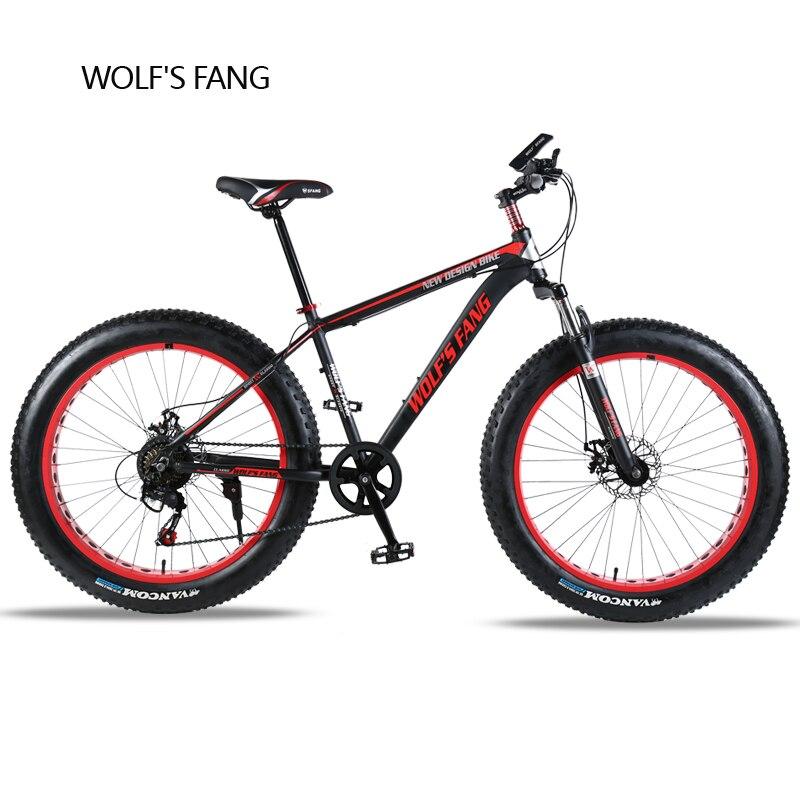 Vélo Vtt 7/21 vitesse 26 X 4.0 fat vélo vélo de route Avant et Arrière Mécanique disque De Frein Printemps Fourchette Alliage roues vélo