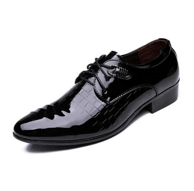 Spring 2018 men's leather shoes, fashion male wedding party banquet shoes business mens oL office work flats zapatillas hombre