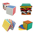 ShengShou 7x7x7 Square Magic Puzzle Cube 7*7*7 Speed Cube Blocks Black & White 77mm Cubo Magico with PVC Sticker for Kids Toys