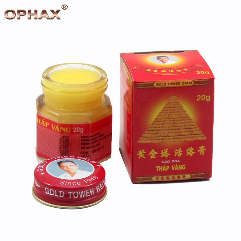 1pcs Vietnam Gold Tower Balm Active Cream 20g Relieving Itching and Muscle Joints Rheumatism Pain-Killer Detumescence