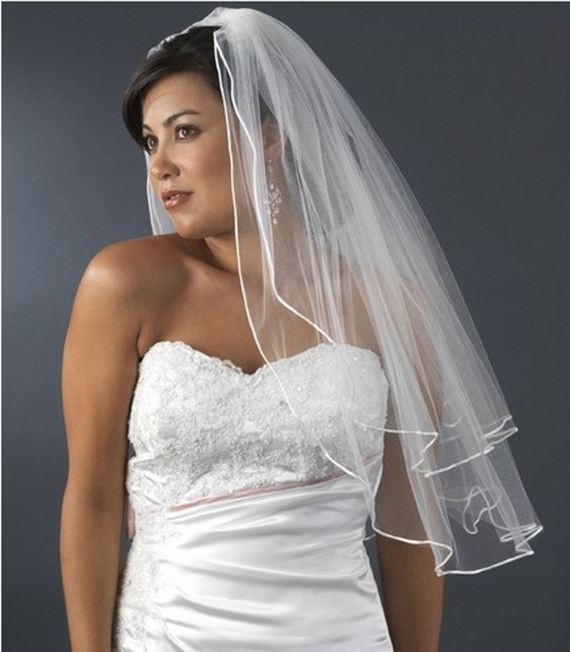 Hot Sale Cheap Wedding Veil Bridal Comb Accessories Tulle Ruffles Unique Design Have In Stock Veils From Weddings