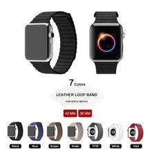 42 MM 38 MM Oryginalne Skórzane Pętli Watch Band dla Apple Watch Strap