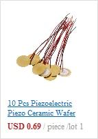 10 Pcs Piezoelectric Piezo Ceramic Wafer Plate Dia 15mm For Buzzer Loudspeake JM