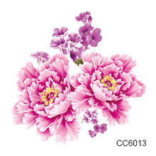 2pcs Blooming Temporary Tattoos Color Flower Peony Fake Tattoo Body Art Water Transfer Flash Sticker Decals