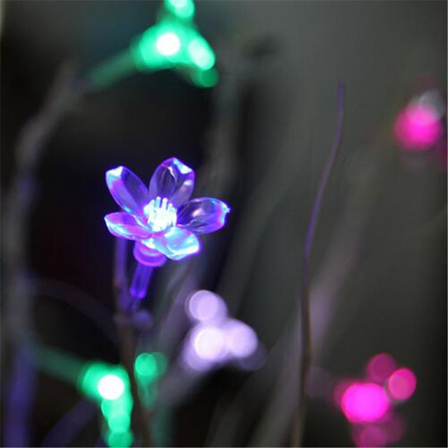 8M 50LED Cherry Floral LED Garland String Lights Battery Wedding party room Holiday Lighting Christmas Decoration Fairy lights