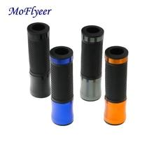 MoFlyeer Universal 7/8 22MM CNC Motorcycle Handlebar Grip Handle Bar Motorbike Grips 6 Colors For Option