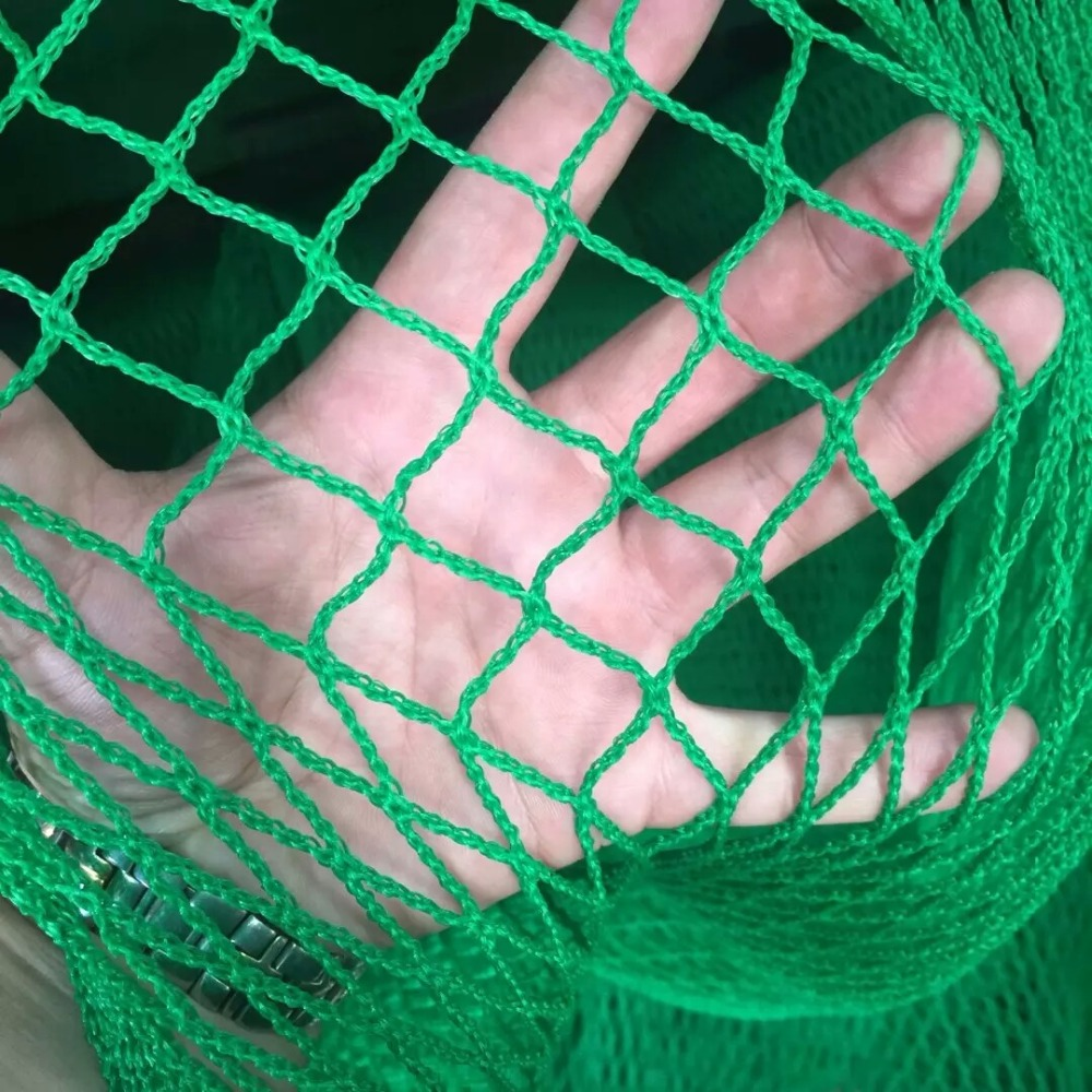 Golf Practice Net Heavy Duty Impact Netting 3m X 3m Rope Border With Self-adhesive Straps On All 4 Sides