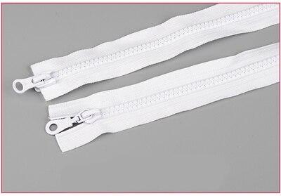 Alipress 5#90 см двойные ползунки смолы застежки-молнии для шитья спальный мешок для палаток Пальто Аксессуары 3 шт - Цвет: white