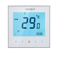 LCD Display Thermometer Thermostat Touch Screen Water Heating Thermostat Weekly Programmable Room Temperature Controller 3A