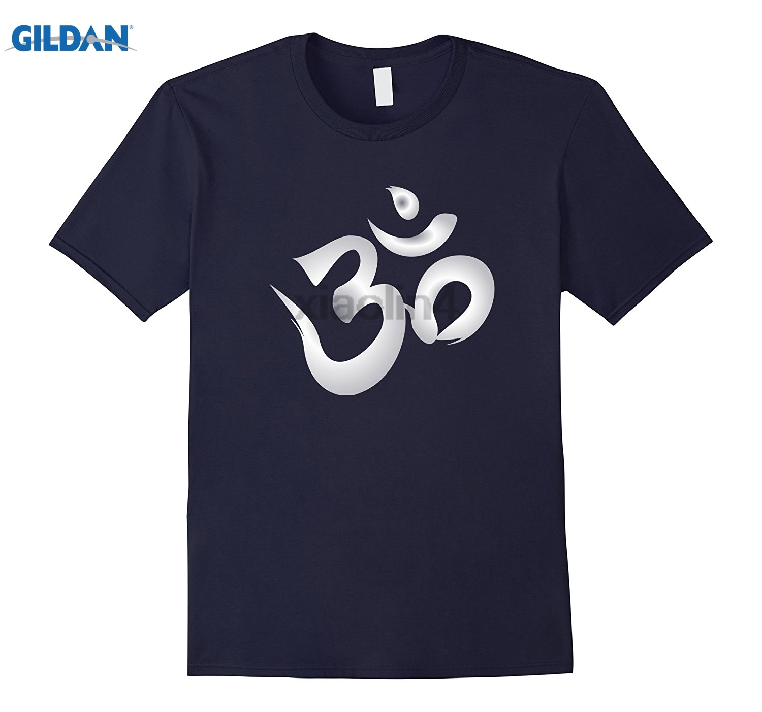 GILDAN T-Shirt spiritual ohm symbol in white (choice of colour) Gildan T-shirt Cotton Short Sleeve Top sunglasses women T-shirt