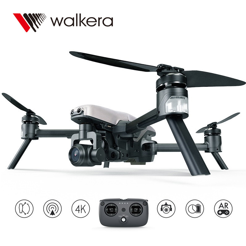 Walkera VITUS 320 5.8G Wifi FPV with 3-Axis 4K Camera Gimbal Obstacle Avoidance AR Games Drone VS DJI Mavic Air Drone fpv 3 axis cnc metal brushless gimbal with controller for dji phantom camera drone for gopro 3 4 action sport camera only 180g