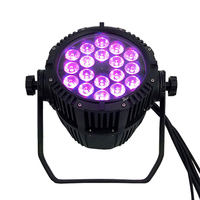Waterproof LED Par 18x18W RGBWA+UV DMX512 Outdoor IP65 LED DMX Stage Lighting Effect Master Slave For Disco DJ Music Party Club