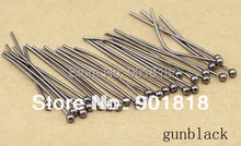 200 pcs/bag temuan perhiasan emas Warna bola kepala Pins temuan 30x0.5mm (24 gauge) F352B(China)