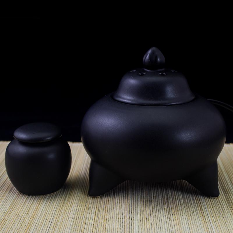 Ceramic Lavender aromatherapy furnace thermostat timing the electronic incense burner ce ...