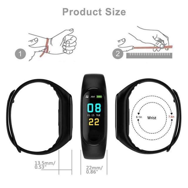 Untoom Sport Smart Watch IP68 Waterproof Fitness Bracelet Color Screen Heart Rate Blood Pressure Monitor Watch for iOS Android