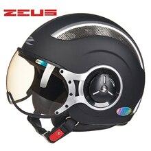 Cascos vintage ZEUS motocicleta casco de motocicleta para hombre DOT aprobado Retro mujer bicicleta patinete 4 estaciones cascos femeninos