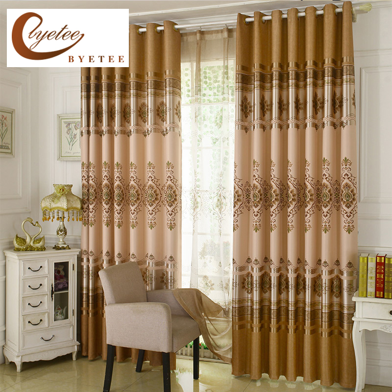 Byetee Modern Living Room Luxury Window Curtains Striped: [byetee] Blackout Sheer Kitchen Luxury Curtains For Modern