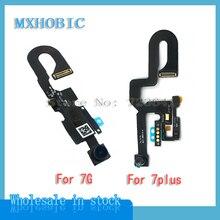 10 teile/los Vorne Kamera Flex Kabel für iPhone 7 7G Plus Kleine Gerichtete Kamera Modul Proximity Licht Sensor Ersatz teile