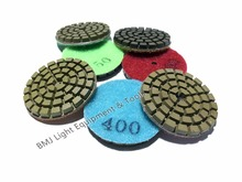 7 units/lot  2 inch wet polishing pad grit at 50 100 200 400 800 1500 3000 free shipping