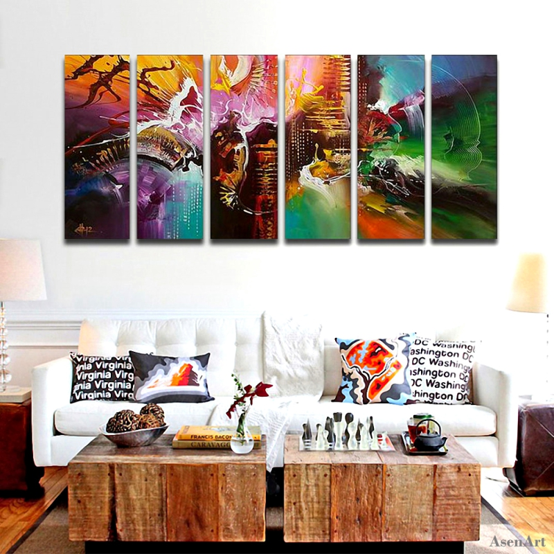 hand painted modern abstract oil painting canvas wall art for living room decoration multi panel large wall picture no frame in painting calligraphy from - Multi Frame Wall Art