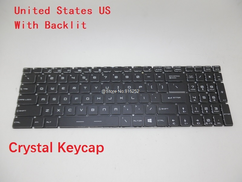 Laptop Keyboard For MSI GT62 GT72 GE62 GE72 GS60 GS70 GL62 GL72 GP62 GP72 CX62 WS60 V143422AK United States US Spain SP rtdpart laptop keyboard base for asus t100 t100ta us the united states black 95