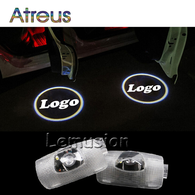 Atreus 2X LED Courtesy Lamp Car Door Welcome Light For Toyota prius tundra corolla prado sequoia highlander Reiz Alphard Sienna