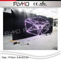 P10cm 8.8x3.2 m di alta qualità 2016 di vendita calda hd led display full sexy xxx film, schermo a led, cina sexy tenda video led display