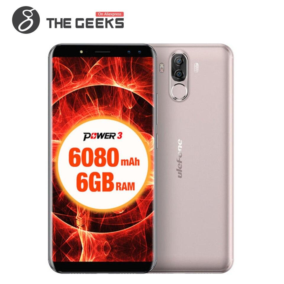 ULEFONE PUISSANCE 3 6 gb RAM 64 gb ROM Helio P23 MTK6763 2.0 ghz Octa Core 6.0 pouce FHD + plein Écran 6080 mah Android 7.1 LTE Smartphone