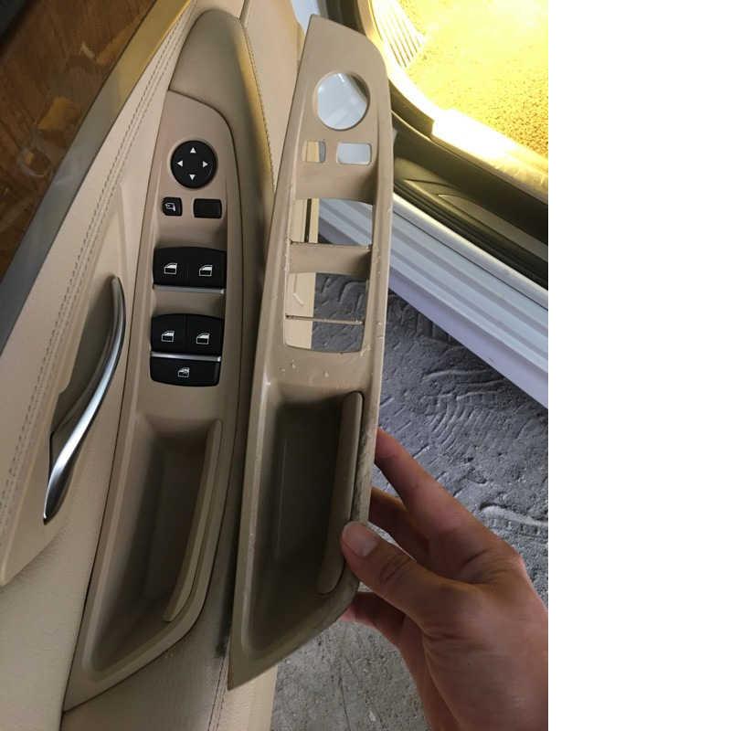 Для BMW 5 серии F10 F11 2011-2017 серый бежевый черный автомобиль левой интерьер дверные ручки внутренние двери Панель тянуть накладка