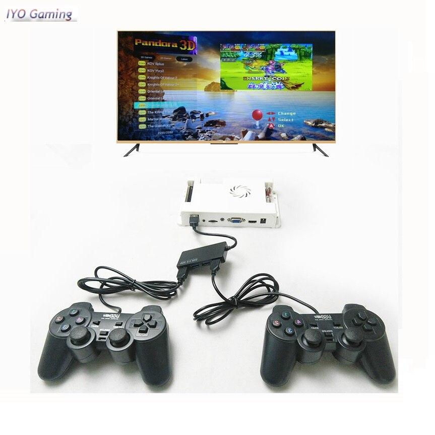 Pandora 10 2263 Jeux Vidéo rétro CARTE PCB + 2 pièces Manette + Répartiteur USB + Câble HDMI + Adaptateur secteur + Interrupteur Ensemble