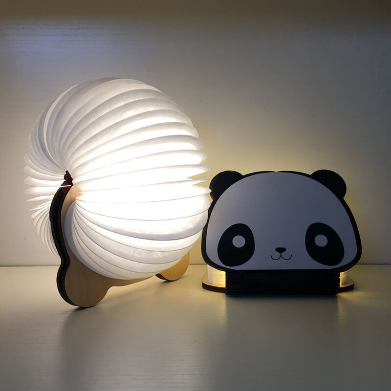 Novelty Led Book Night Light USB Panda Colorful Rechargeable Portable Atmosphere desk lamp Light for decorating child gift vasos sanitários coloridos