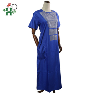 Image 4 - H&D african couple clothes suits long dresses for women african men dashiki shirt pant set 2020 new clothing with shining stones