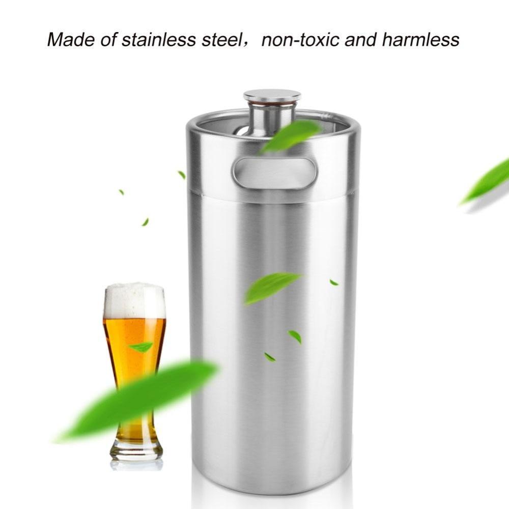 4L Home Brewing Making Bar ToolBarrel Beer Growler Mini Keg Stainless Steel Beer Growler Beer Bottle