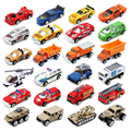 1:64 Alloy car kit City of Heroes trolley 4pcs/Set Metal car toy Christmas gift Construction vehicles Ambulance truck Sports car