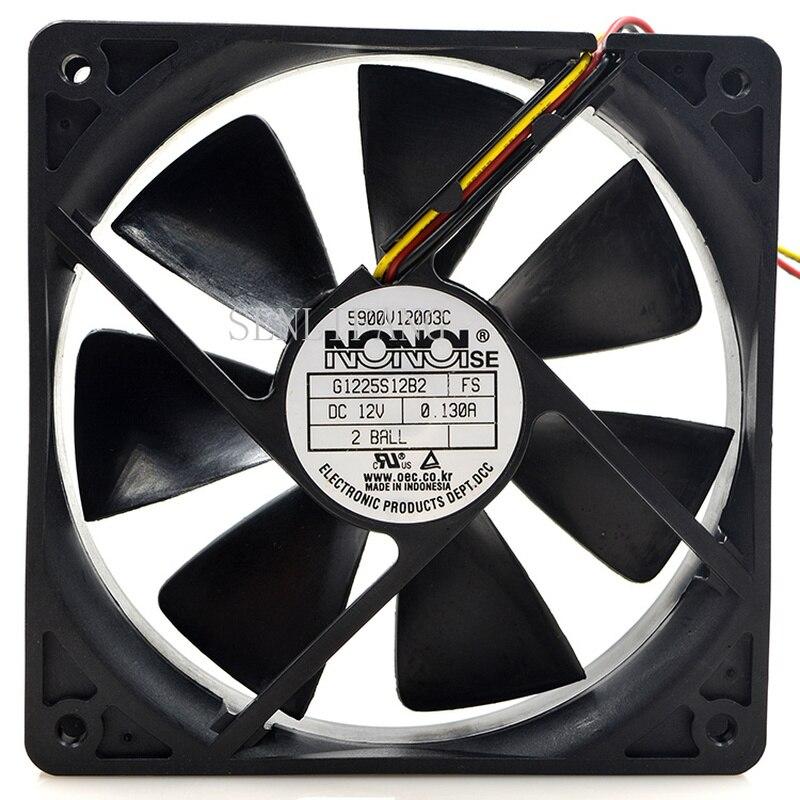 For Nonoi G1225s12b2 12v 0.13a 12cm 12025 Line Cooling Fan